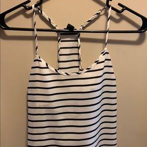 J. Crew Black | White Striped Camisole
